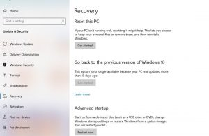 recovery sistem windows